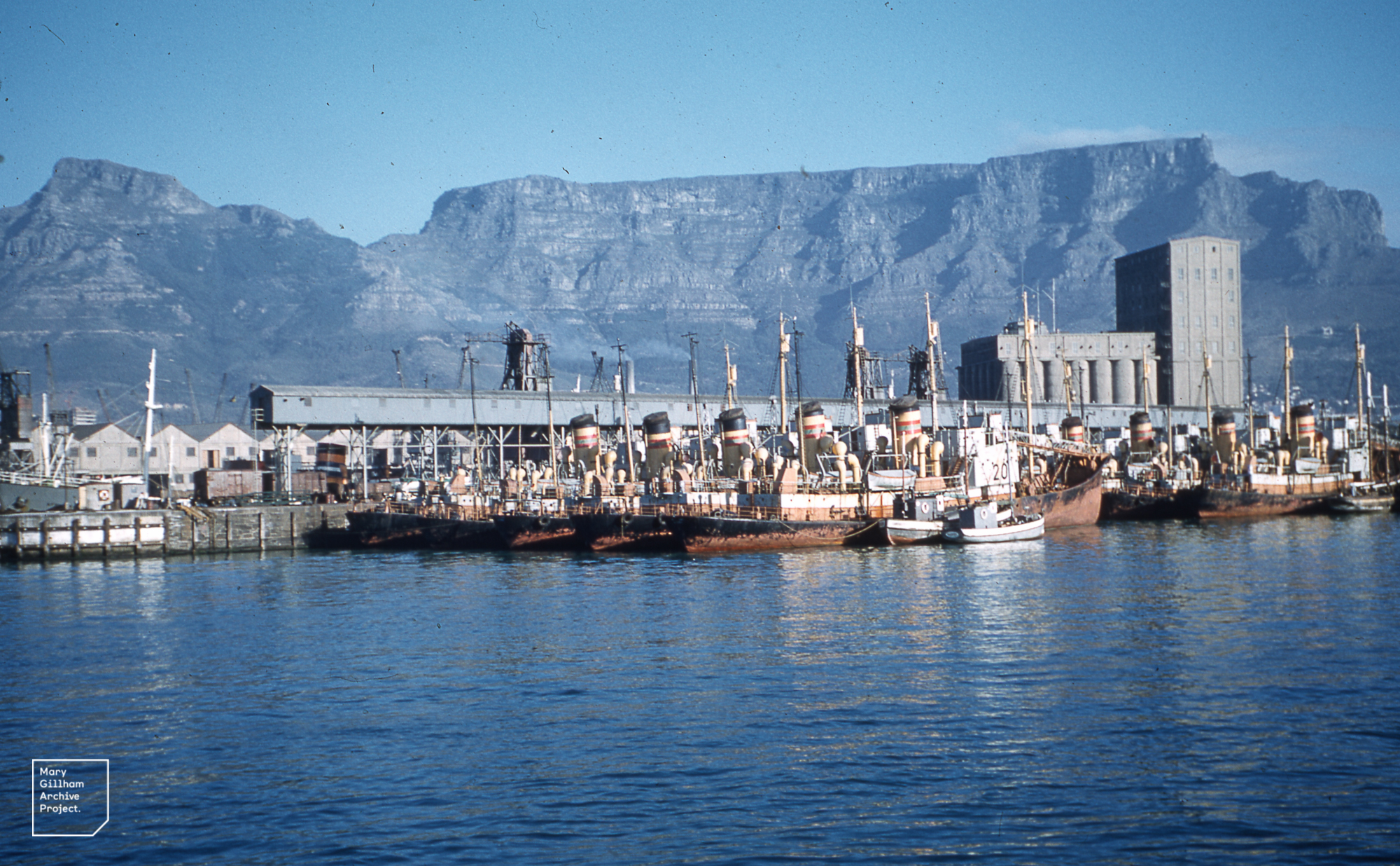 Dutch whalers, wheat silos. Table Mountain, 1960