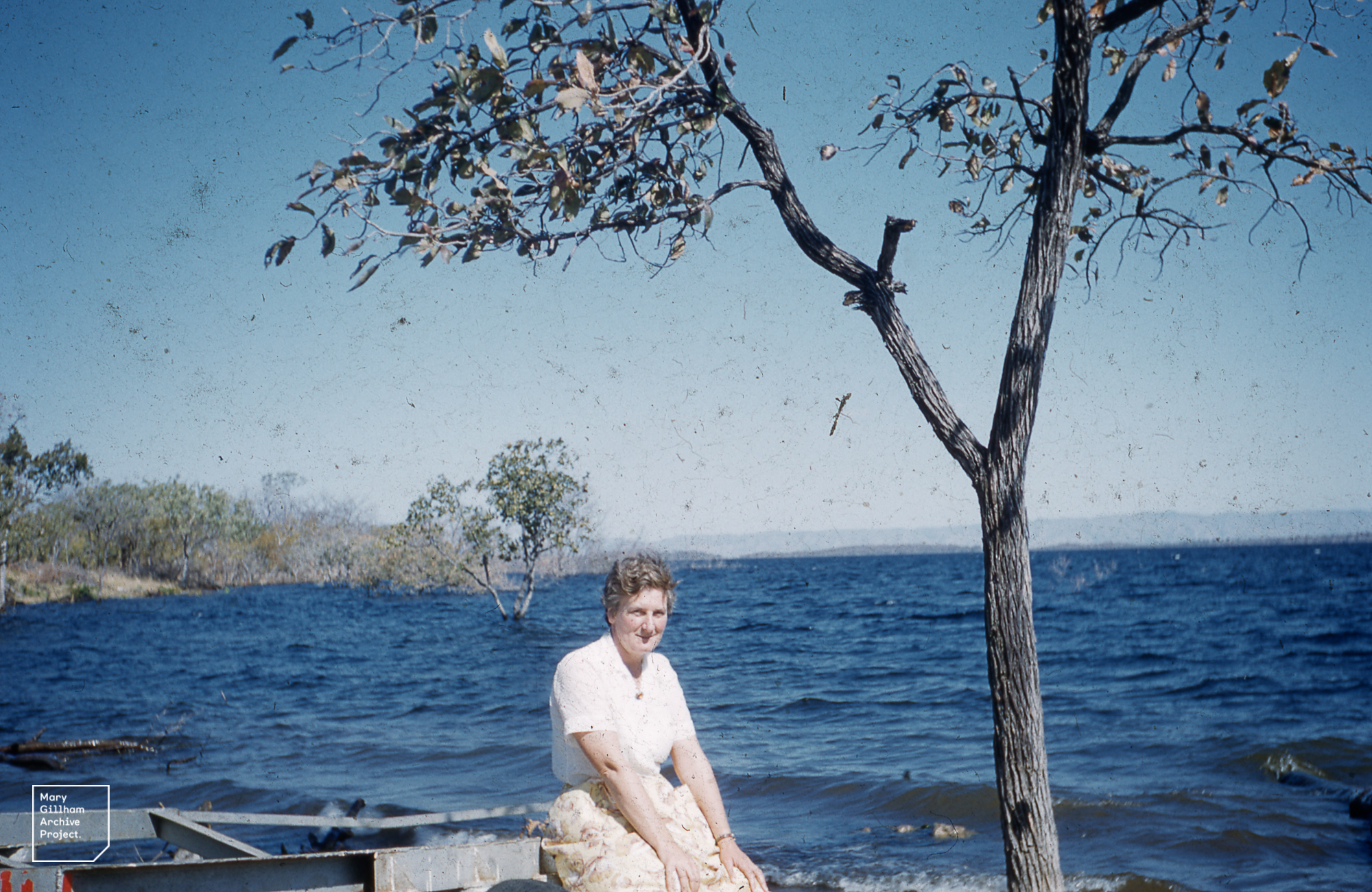 Mary Gillham at Kariba Lake (Zambia) 1960