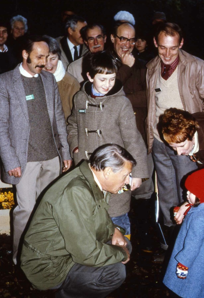 Sir David Attenborough chats with a youngster while Dr Mary Gillham watches on. Picture by Cliff Woodhead