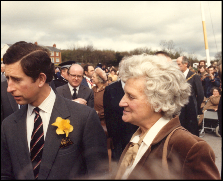Mary with HRH The Prince of Wales