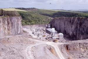 Pont Alun quarry from top of Kings Wood, 1988