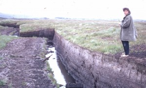 Dr. David Cabot on peat cutting Lough Coller