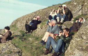 Shearwater watching. Northwest Ramsey. Warden Peter Frost