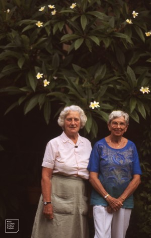 Mary with Isobel Bennett, Sydney, 1989