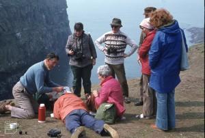John ?, Norman, Mairead, Shirley, Charles, Peter, Wendy, Rosemary, Skomer, 1978