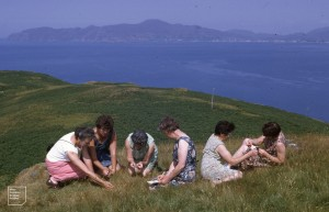 The Welsh Valleys at work on the Scottish islands, above Tobermory, 1970s
