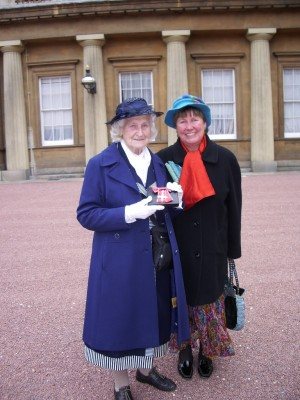 Mary and (goddaughter) Rosemary at Buckingham Palace, 2009