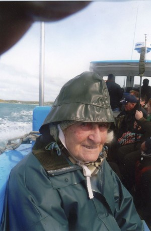Aboard the boat to Bryer, April 2009