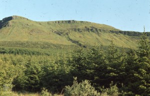 North Pennant scarp of coalfield, West end of Craig y Llyn, June 1972
