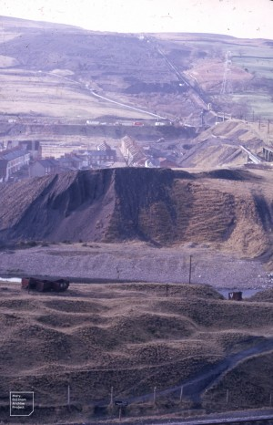 Aberfan coal tip after levelling 04/02/1971. Grazed tip succession.