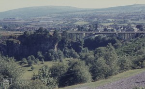 Taf Fechan, Gurnos Quarry, Heads of Valleys Road for view south over Merthyr, 1968