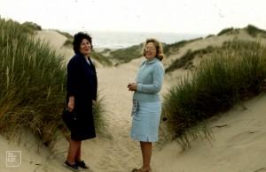 Pat Walters. Winnie Weston. Llangennith. 1972