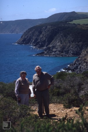 Hope and Ian Black. Scott's lookout. Kangaroo Island. 1995