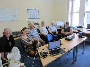 Mary Gillham Archive Project volunteers learning about the life cycle of a wildlife record