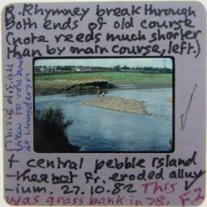 An example of one of Mary's slides. She has written a description and at some point later corrected herself and updated the information.